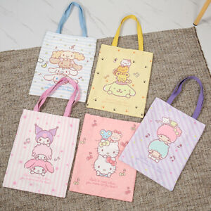 kuromi melody Pom Pom Purin canvas shopping bag travel Tote Bags X'MAS GIFT new
