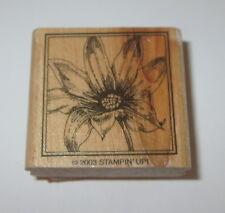 Water Lily Rubber Stamp Flower Stampin' Up! Wood Mounted