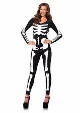 Glow-in-the-Dark Skeleton Catsuit Women's Costume Holiday Item Halloween Large