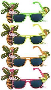 Unisex Tropical Flamingo Glasses Mexican Hawaiian Novelty Party Sunglasses