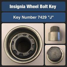 "Genuine Vauxhall Insignia Locking Wheel Bolt / Nut Key 7429 ""J"""