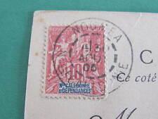 Noumea New Caledonia Stamp Postcard Postmarked 1905 to Sydney Australia