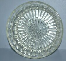 Vintage Cut Glass Bowl 9 In Lead Heavy Serving Punch Clear Round Large