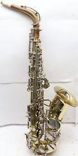 Vintage Amati Kraslice Super Classic Saxophone Gold w/ Case Czechoslovakia FIXED