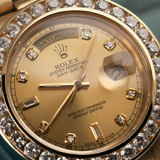 Rolex Presidential Day-Date 36mm Champagne 8+2 Dial 18k Gold Diamond Watch