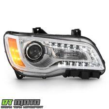 2011 2014 Chrysler 300 Chrome Bezel Halogen Headlight Headlamp Passenger Side Fits Chrysler 300