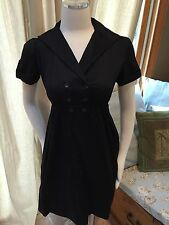 NWT Max & And Cleo by BCBG Max Azria Black Double Henley Button Retro Dress 2