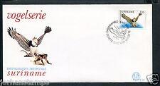 Suriname Republiek FDC E107 - E 107, vogels-birds, blanco met open klep