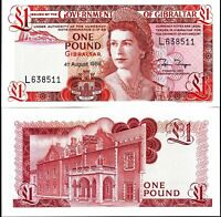 Gibraltar 1988, One Pound, QEII Banknote UNC > Replaced by a coin
