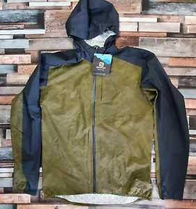 Salomon Bonatti Waterproof Hooded Jacket, Olive Night, Men's Medium RRP £150