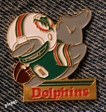 Miami Dolphins~NFL~Huddles Pin~Football~80's vintage~Enamel~30+ years old