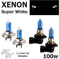 H7 HB3 100w SUPER WHITE XENON UPGRADE HID FULL SET Headlight Bulbs HIGH/LOW/SIDE