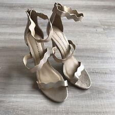 Chinese Laundry Jema Metallic Gold Heels Sexy Stiletto Size 10 M US Prom Evening