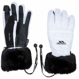 Trespass Yanki Ladies Womens Ski Gloves, White
