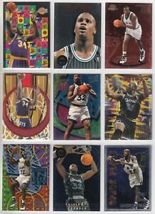 GREATEST SHAQUILLE O'NEAL LOT OF 200 SUPER RARE INSERTS/PRIZMS/ROOKIES $800BV