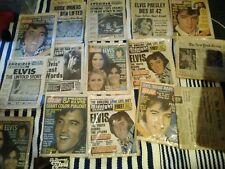 Newspaper from Elvis Presley's Death in Plastic 40th anniversary of the King