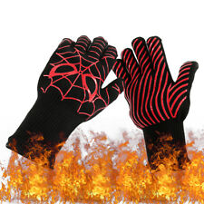 Extra lange Grillhandschuhe | bis 500°C Schutz | hitzebeständige Ofenhandschuhe