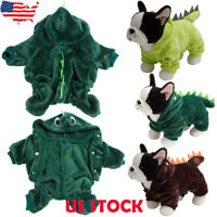 Pet Halloween Dinosaur Clothes For Dog Cat Winter Chihuahua Jumpsuit Jacket Coat