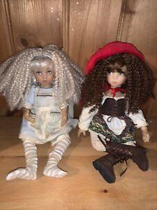 Ashton Drake 2 Dolls Alice In Wonderland & Red Riding Hood Stunning 🌸🌸🌸🌸