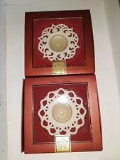 Lenox Snow Lights Porcelain Tea Light Candle Holders Votives set of two