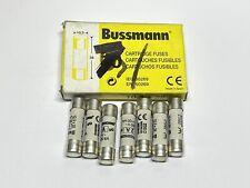 7 Pack Eaton Cooper Bussmann C10G2 10.3 x 38 mm Cartridge Fuse gG 2A 500VAC