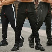 Men Sport Pants Pockets Trousers Running Tracksuit Fitness Joggers Gym Sweatpant