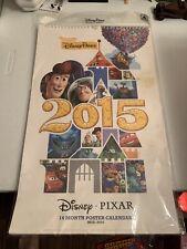 New Disney Parks 2015-2016 Disney Pixar 14 Month Poster Calendar Authentic Orig.