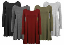 Unbranded Plus Size Scoop Neck Casual Dresses for Women