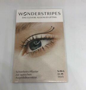Wonderstripes Augenlid-Lifting, Augenlid Pflaster - Kombi S+M+L - 84 Stück