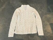 Charter Club Cableknit Sweater BA13 SZ Large White Womens Longsleeve