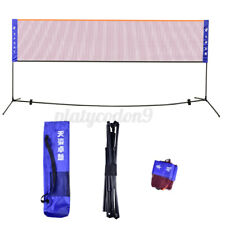 20 Feet Badminton Volleyball Tennis Net Sports Set with Stand/Frame Carry Bag