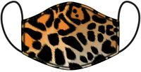 Funky Leopard Print Cotton Reusable Face Covering - Adult Washable Facemask