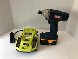 RYOBI 18-VOLT IMPACT DRIVER, BATTERY & 30 MINUTE CHARGER