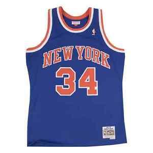 Mitchell & Ness NBA New York Knicks Charles Oakley #34 Blue Away Jersey 1991-92