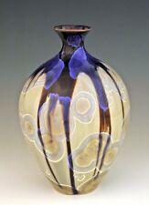 "BILL CAMPBELL 7 1/4"" Sake Vase Pottery Glazed Crystalline Porcelain  FAB !"
