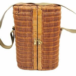 Picnic Time Wicker Wine Bottle Carrier Insulated & Padded - Almost Complete