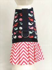 Whale Dog Harness Vest Dress With Ruffle Skirt