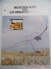 c.1974 Caterpillar Selection Guide Engines Industrial Brochure Vintage Original