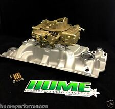 SMALL BLOCK CHEV SBC 283 350 400 WEIAND MANIFOLD HOLLEY CARBURETTOR RECO PACKAGE