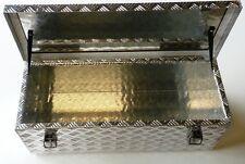 Alu Riffelblech Alubox Staubox Deichselbox Anhänger Aluminium 60 x 25 x 19 cm