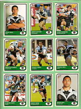 TEN SETS OF 2005  NEW ZEALAND WARRIORS  SELECT  RUGBY LEAGUE TRADITION CARDS