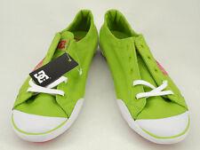 New DC Women Green Canvas Flat Casual Skateboard Athletic Shoe Slipper Sz 11 W