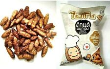 HISO RADITIONAL FLAVOR FOOD CRISPY EDIBLE INSECT SILKWORM PROTEIN SNACK 15g.