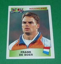 N°81 DE BOER NEDERLAND PAYS-BAS PANINI FOOTBALL UEFA EURO 96 EUROPE EUROPA 1996