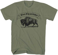 Foo Fighters-Buffalo Banner- XXL Olive Green Lightweight  T-shirt