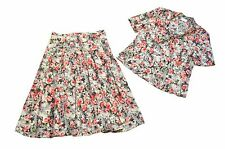 'COTSWOLD COLLECTIONS' Multicoloured Floral Outfit / Skirt & Blouse - Size UK 14