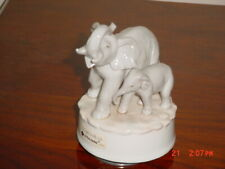 "Otagiri Musical Mother & Baby Elephant Figurine ""You Light Up My Life"""