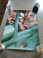 """Tamara De Lempicka """"AutoPortrait 1925"""" Print Litho Poster 1987 #TFA 406 Art Deco"""