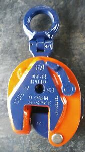 """🇳🇱CROSBY IPU10 1TON Inter Product Holland plate lifting clamp. 0-3/4""""🌐🚛"""