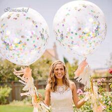 "12"" 5PCS Multi Foil Confetti Filled Balloos Helium Birthday Party Wedding Decor"